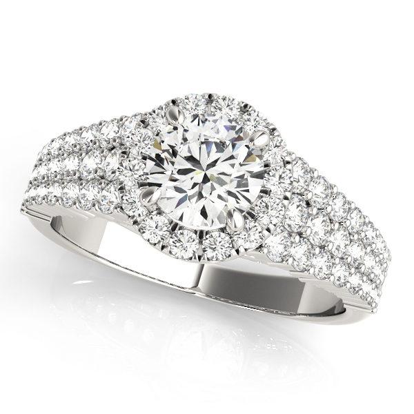Halo Engagement Ring 51025-E