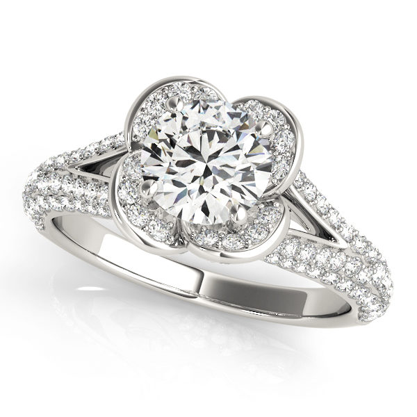 Halo Engagement Ring 51026-E