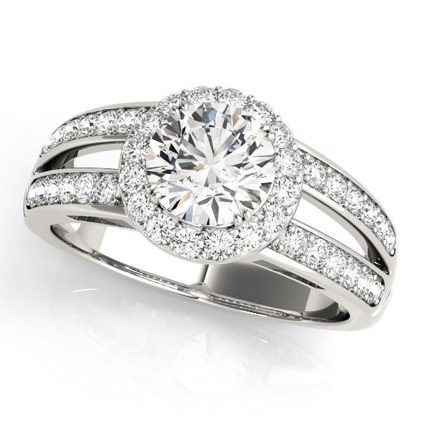 Halo Engagement Ring 83195