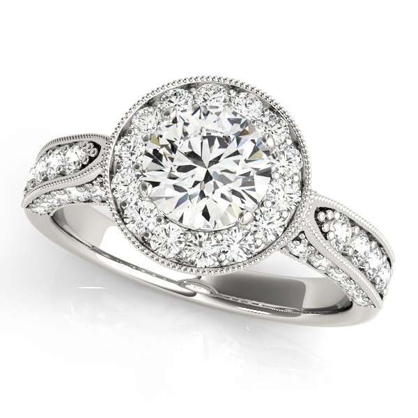 Halo Engagement Ring 83315