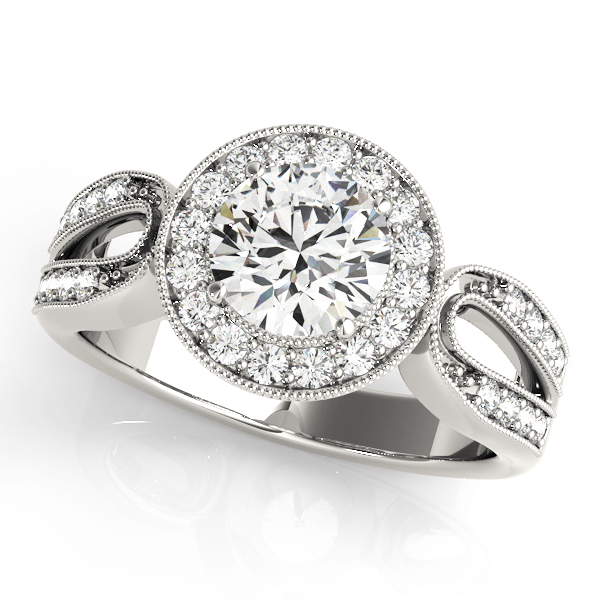 Halo Engagement Ring 83524