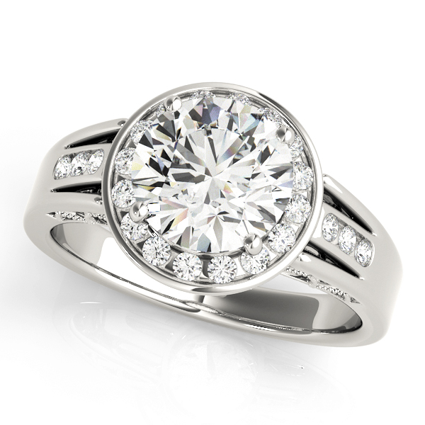 Halo Engagement Ring 83556