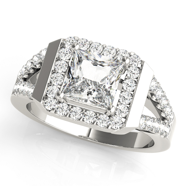 Halo Engagement Ring 83566