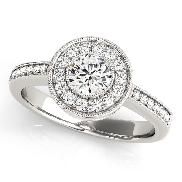 Halo Engagement Ring 83616
