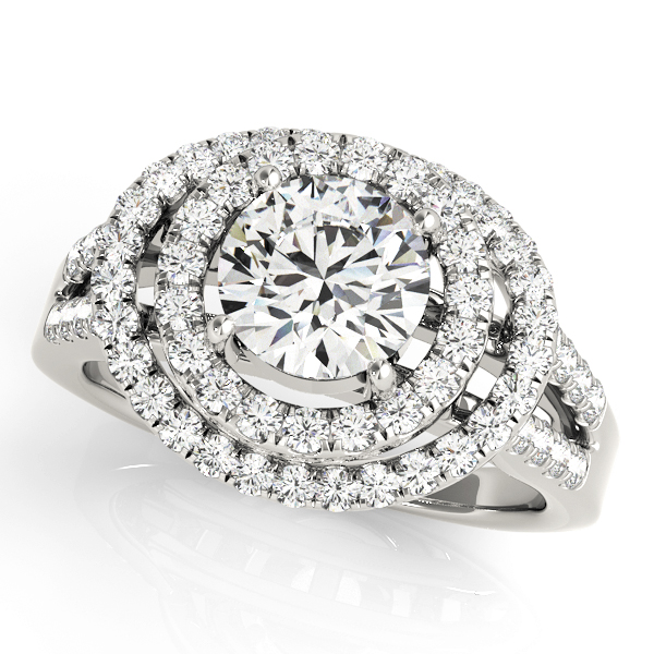 Halo Engagement Ring 83626