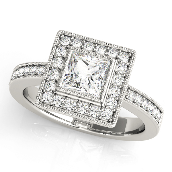 Halo Engagement Ring 83651