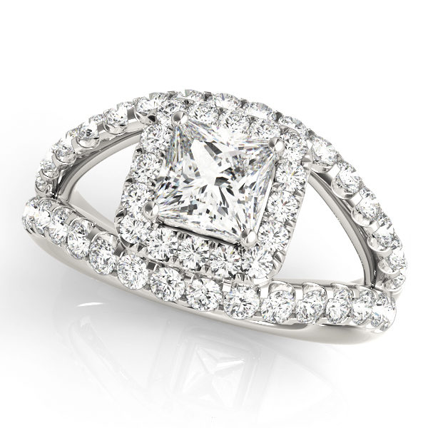 Halo Engagement Ring 83757
