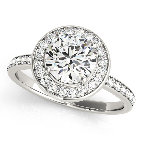 Halo Engagement Ring 83872