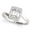 Halo Engagement Ring 84762