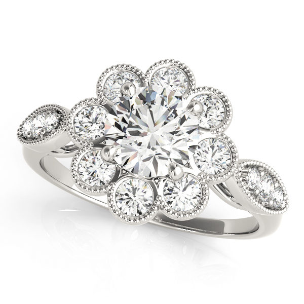 Halo Engagement Ring 84841