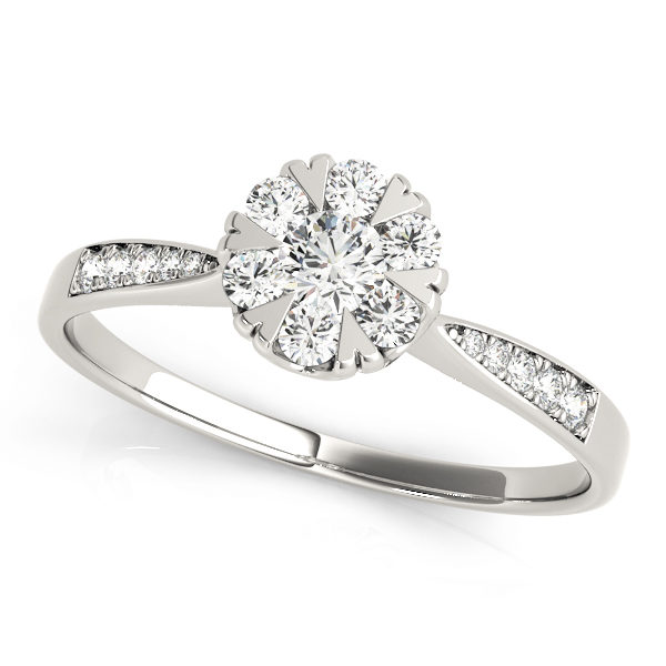 Halo Engagement Ring 84904