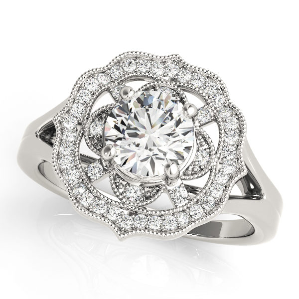 Halo Engagement Ring 84911