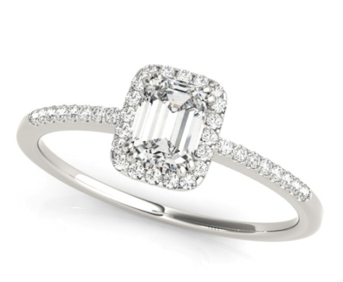 diamond engagement ring, sydney engagement rings, emerald-cut, emerald shape
